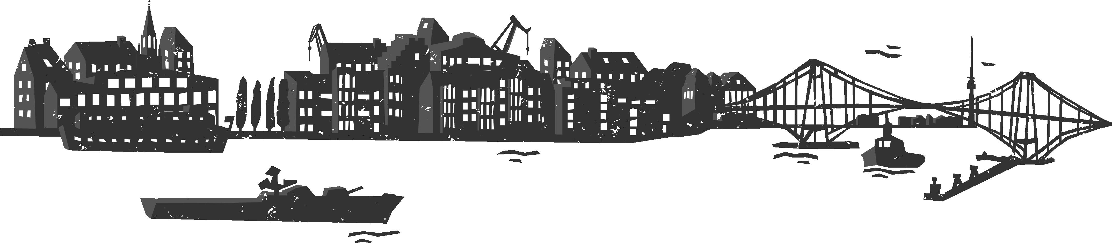 Silhouette Stadt Wilhelmshaven